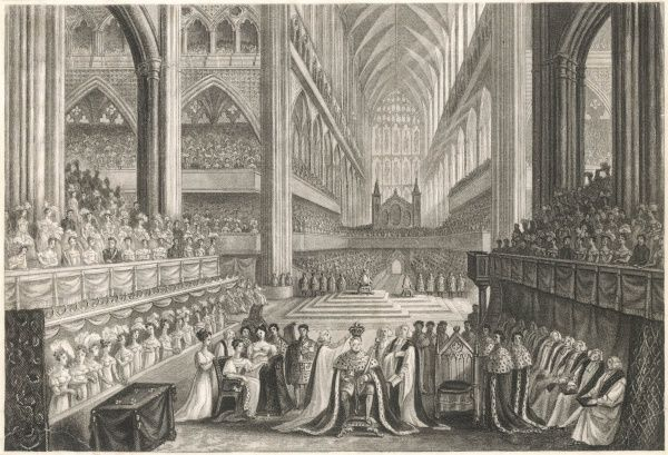 CORONATION OF WILLIAM IV Though he succeeds George IV in June 1830, he is not crowned at Westminster Abbey until 15 months later