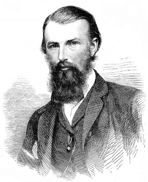 Engraving of William John Wills, the Australian surveyor and explorer, pictured in 1860