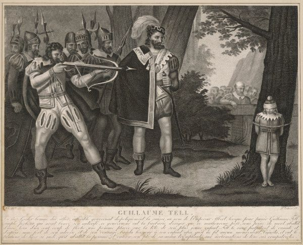 WILLIAM TELL Heroic Swiss patriot, shooting an apple off his son Walter's head by order of the Austrian governor. Did it really happen ? Did he even exist ?