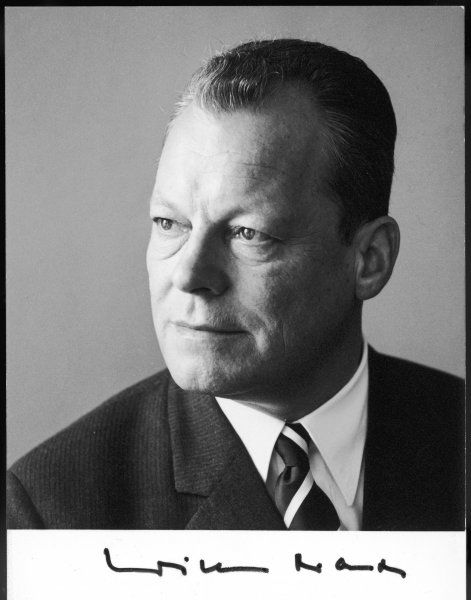 WILLY BRANDT (1913 - 1992) German socialist statesman, leader of Social Democrats, mayor of Berlin, federal chancellor 1969-74, Nobel Peace Prize 1971