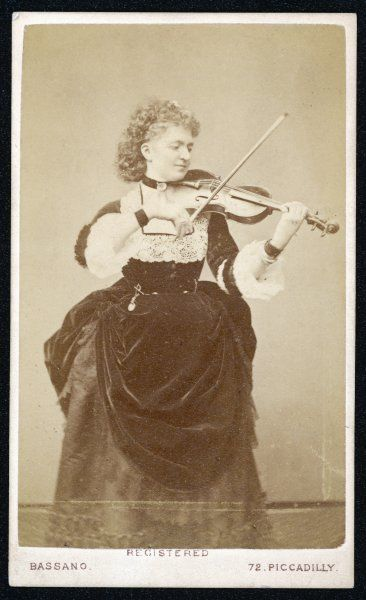 WILMA MARIA FRANZISKA, Madame NORMAN-NERUDA, lady HALLE Violinist, and wife of Sir Charles Halle