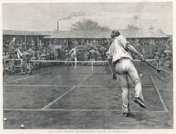 Men's singles (unnamed players) at Wimbledon in 1888