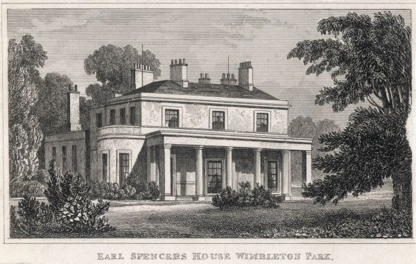 Earl Spencer's house in Wimbledon Park, the successor to the one built for Sarah, Duchess of Marlborough which burned down in 1785
