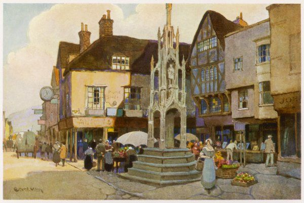 The Market Cross shops and stalls