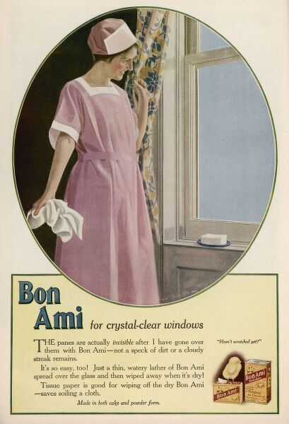 'Bon Ami' for crystal-clear windows - in both cake or powder form
