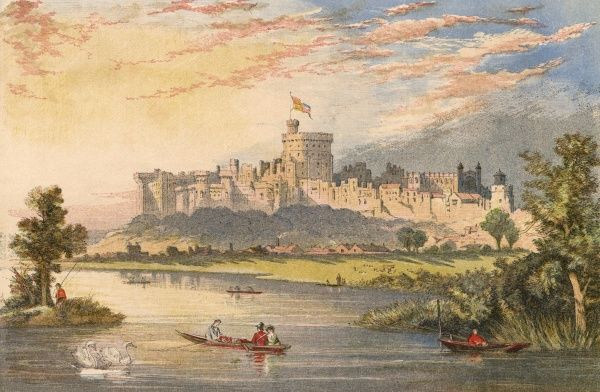 Windsor Castle, from the Thames Date: 1863
