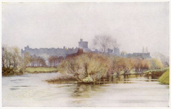 Windsor Castle, viewed from Fellows' Eyot
