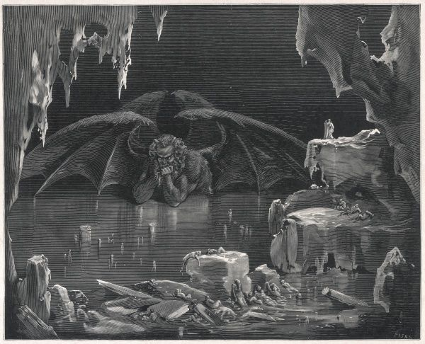 The winged demon in his icy lair