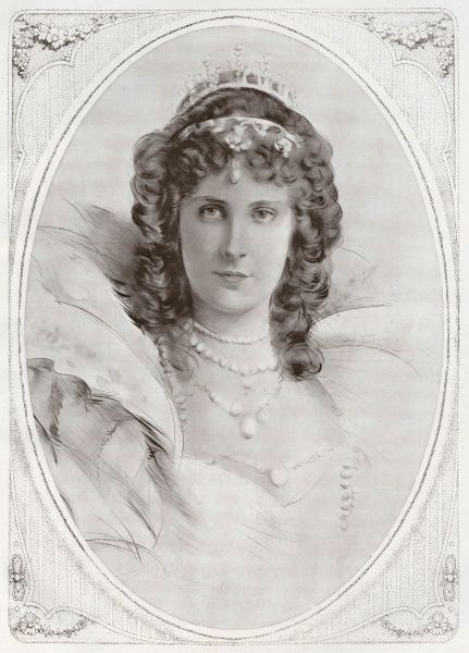 Winifred Cavendish-Bentinck(1863-1954) Duchess of Portland, D.B.E, shown as a young woman prior to her marriage to the 6th Earl