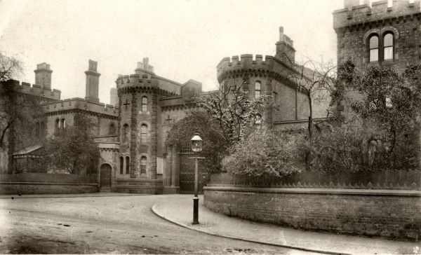 The castle-like entrance to Winson Green Prison, Birmingham, built in 1849 as a local gaol for adult male offenders