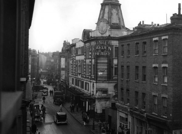 Winter Garden Theatre on the corner of Drury Lane and Parker Street in Covent Garden, London. The New London Theatre now occupies the site. Date: 1947