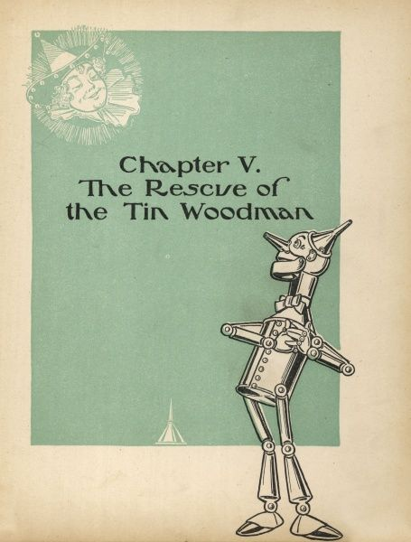 The Tin Woodman and the Munchkin girl he fell in love with