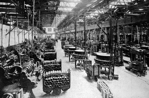The chassis test-shop of Wolseley Motors Ltd