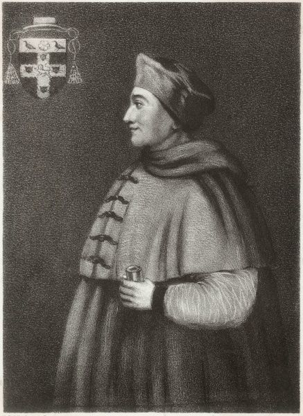 CARDINAL THOMAS WOLSEY English prelate and statesman, from a portrait in the Bodleian Library, Oxford