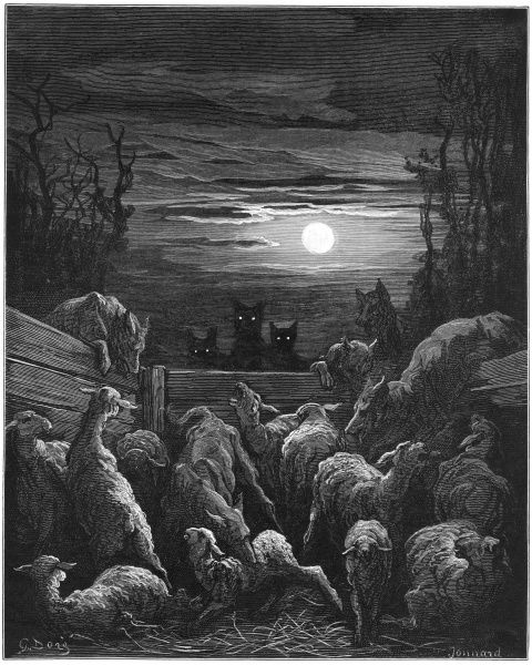 THE WOLVES AND THE SHEEP The wolves break the peace pact they had with the sheep, and attack them in their sheepfold; a faithless enemy is not to be trusted