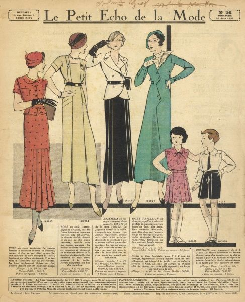 Summer costumes for children and their mothers, aunts and elder sisters