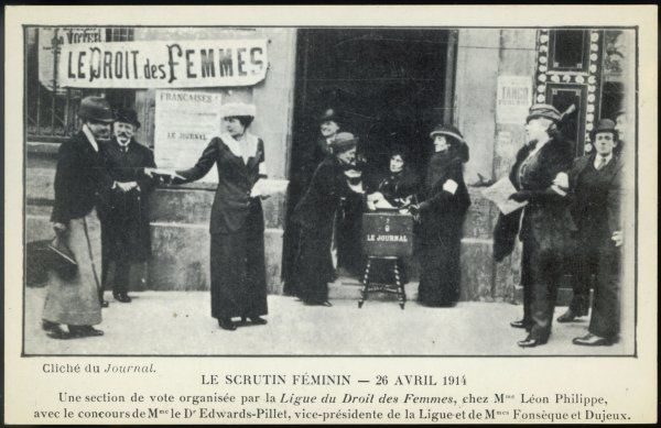 French suffragettes organise their own parallel election