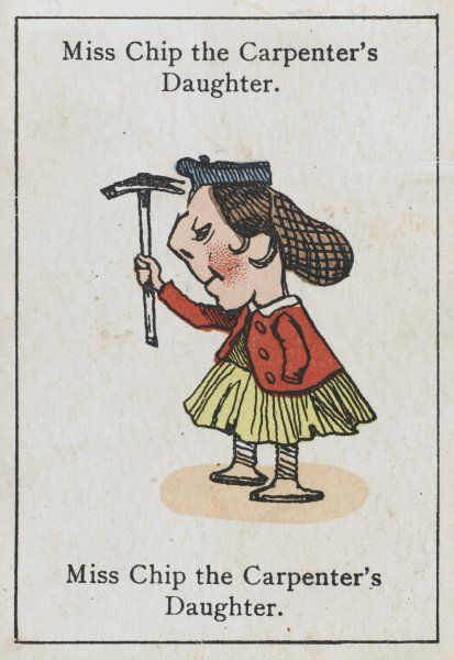 "Miss Chip the Carpenter's Daughter, from ""Happy Families"" devised in Britain by Mr Jacques in 1861"