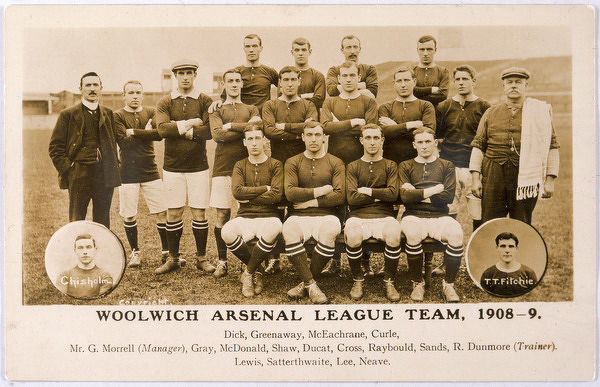 WOOLWICH ARSENAL football team (each player is named below)