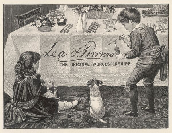 An advertisement for Lea & Perrins Original Worcestershire Sauce