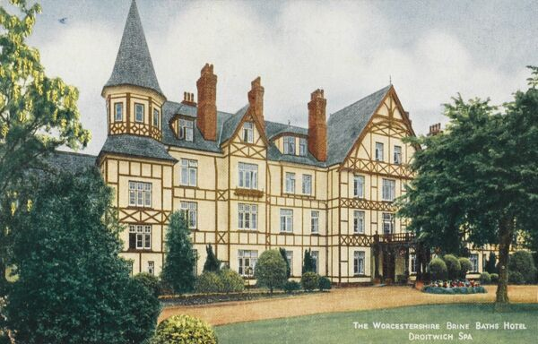 Worcestershire Brine Baths Hotel. The springs at Droitwich Spa were first discovered by the Romans