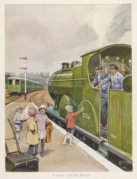 'A WORD WITH THE DRIVER' - The engine driver as children's hero : four children talk to the footplate crew who will soon be carrying them to the seaside
