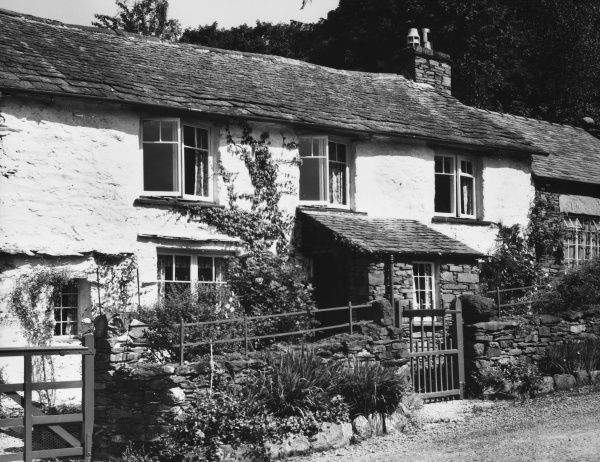 The English poet WILLIAM WORDSWORTH (1770 - 1850) lived in this picturesque cottage beside Ullswater, English Lake District, Cumbria, for several years