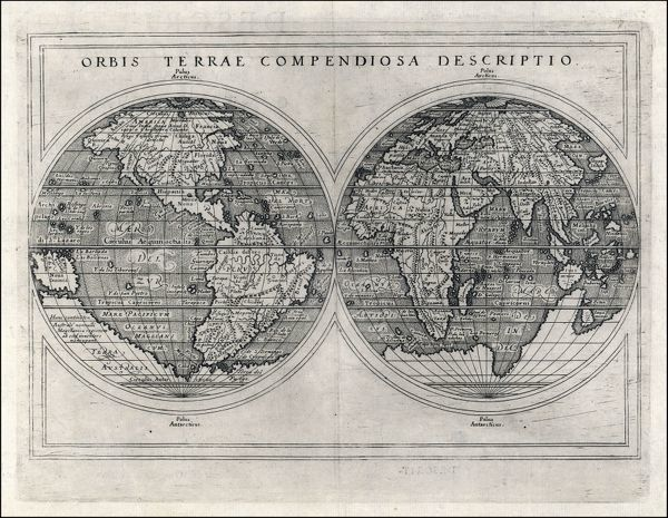Mercator's projection, with parallel latitudinals, mentioning recent navigations such as Magellan