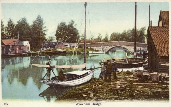 Wroxham Bridge, Norfolk Broads Date: circa 1910s