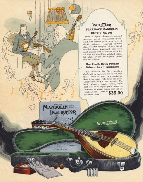Wurlitzers flat-back mandolin outfit Date: 1924