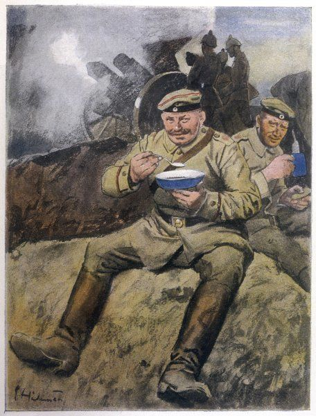 War or no war, the German troops at the Front are eating well !