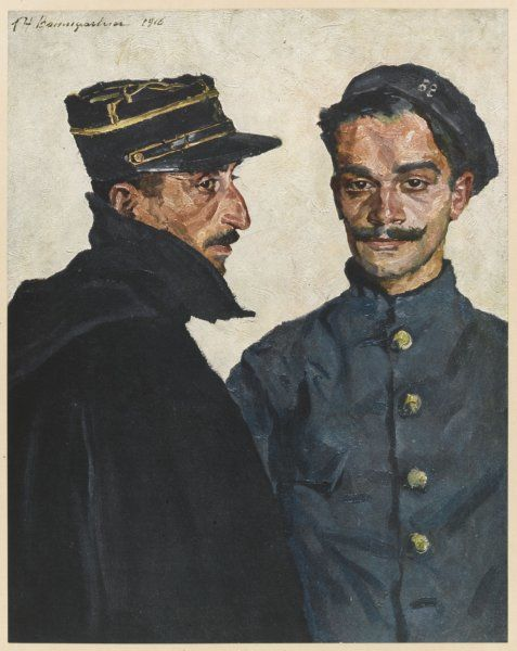 Two French soldiers - one from Corsica, the other from the Midi - in World War One
