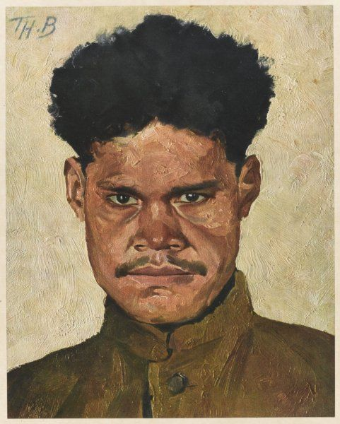 A native of New Caledonia, fighting with the French forces during World War One