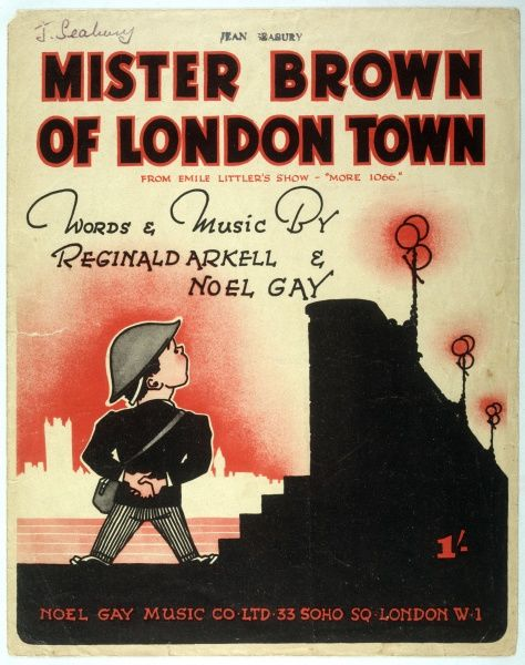 "Cover of the music sheet for ""Mister Brown of London Town&quot"