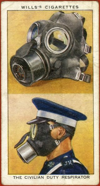 A gas mask, and how to wear it
