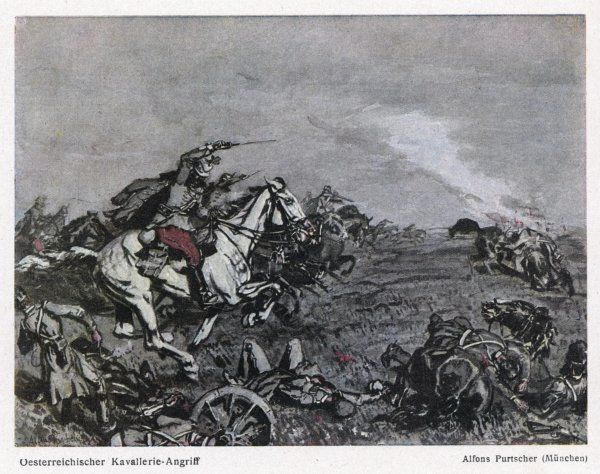 An Austrian cavalry attack