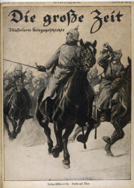 A German cavalry charge