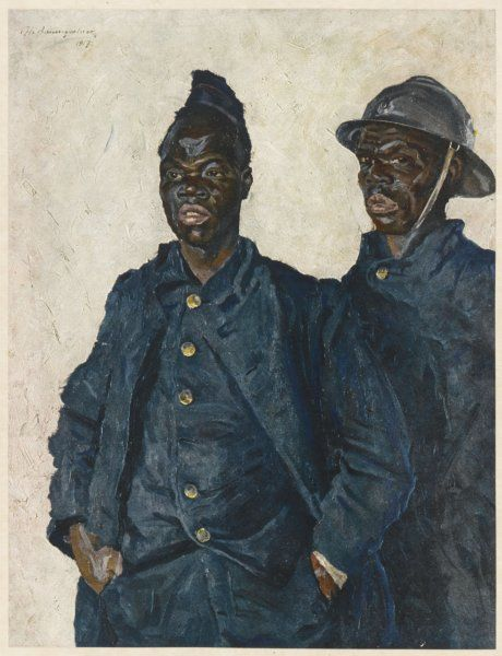 Two soldiers from Dahomey serving with the French army during World War One