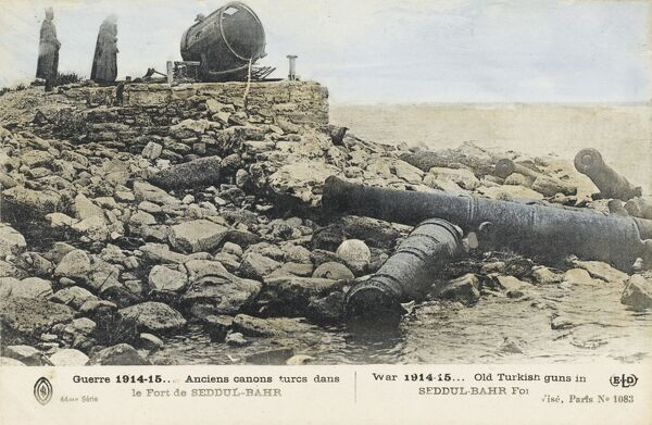 Dardanelles, Turkey. Old Turkish Guns in Sed Dul-Bahr Fort