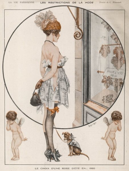 With the shortages in France, this illustration speculates that the summer fashion may have to be fig leaves