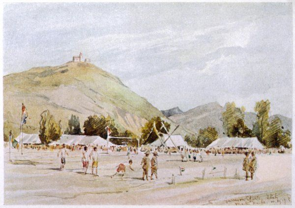 The British Army hold a sports day near Monte Spineto