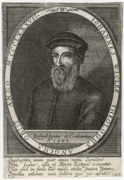 JOHN WYCLIF English religious reformer and theologian, initiated the first complete translation of the Bible into English