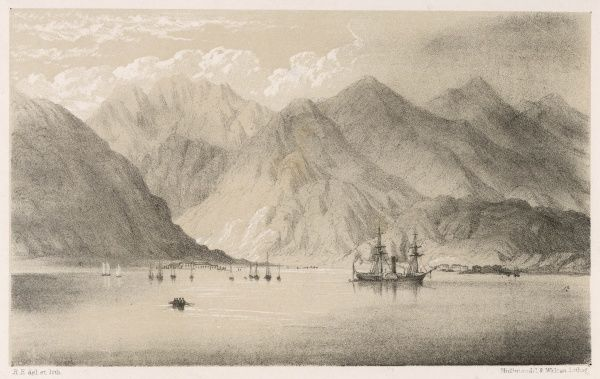 The port of Aden seen from the sea