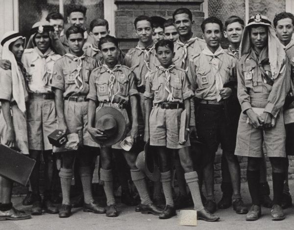 Members of the Aden Contingent at the 1947 World Jamboree. 1947