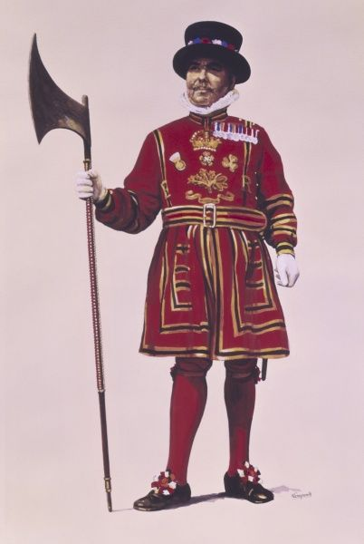 A Yeoman Warder of the Tower of London. Painting by Malcolm Greensmith