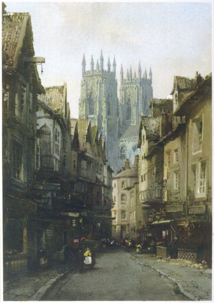 York in the 19th century, with a view of the Minster in the distance