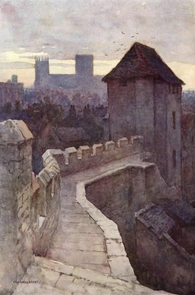 Fishergate Postern from the walls. Date: circa 1909