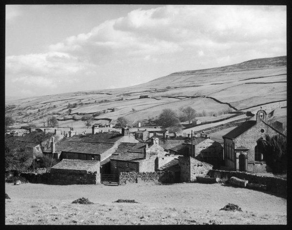 A fine impression of Thwaite, a typical village of the Yorkshire Dales, set in Swaledale