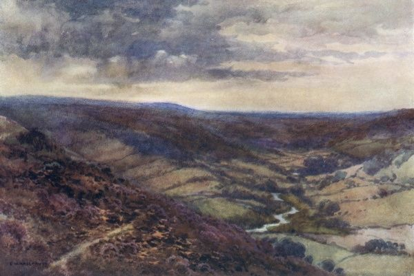 The moors near Hackness, in the Derwent valley. Date: circa 1909