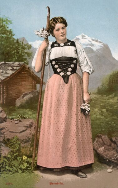 Young lady from Bern, Switzerland Date: circa 1910s